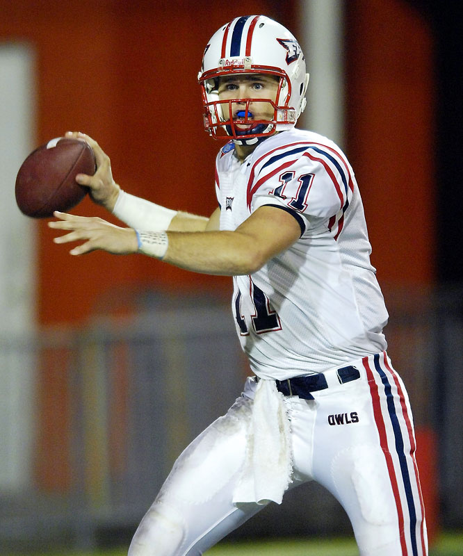 The reigning Sun Belt Player of the Year set the conference record with 3,688 passing yards in 2007. Smith torched Memphis in the New Orleans Bowl, earning MVP honors with 336 passing yards and five touchdowns.