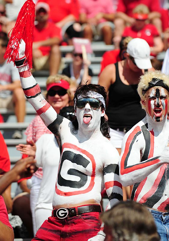 This Georgia fan showed his support on every inch of his skin, including wearing what we can only hope is a wig.