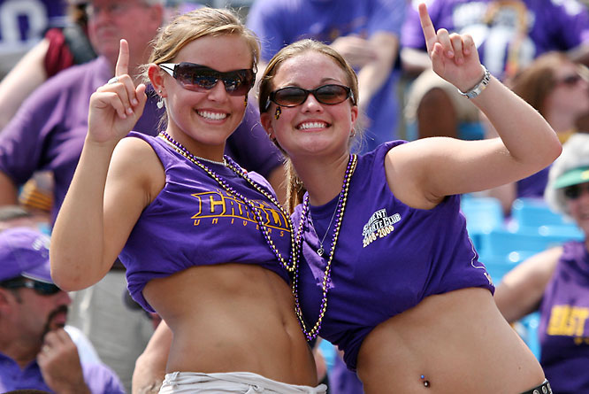 These East Carolina fans were loving life in the top 25, but were undoubtedly bummed to see their Pirates fall the N.C. State.