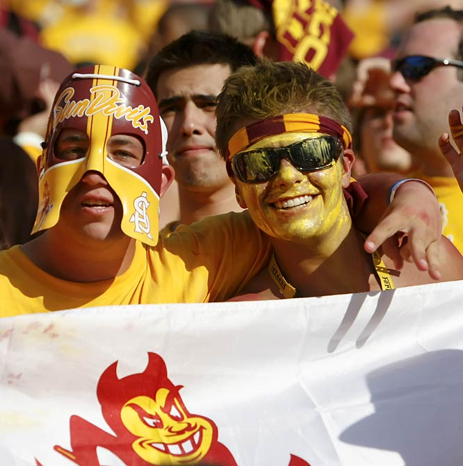The prospect of facing a top five team didn't stop these or other rabid ASU fans from going all-out.