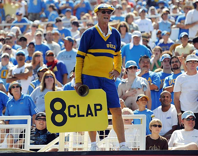 The on-field product may be less-than satisfactory, but at least this UCLA fan provided his fellow attendees with some entertainment.