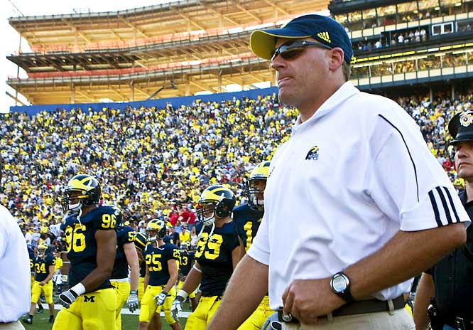 Rich Rodriguez takes the helm in Ann Arbor, introducing his avant-garde, spread-option offense to one of the nation's most traditional programs.