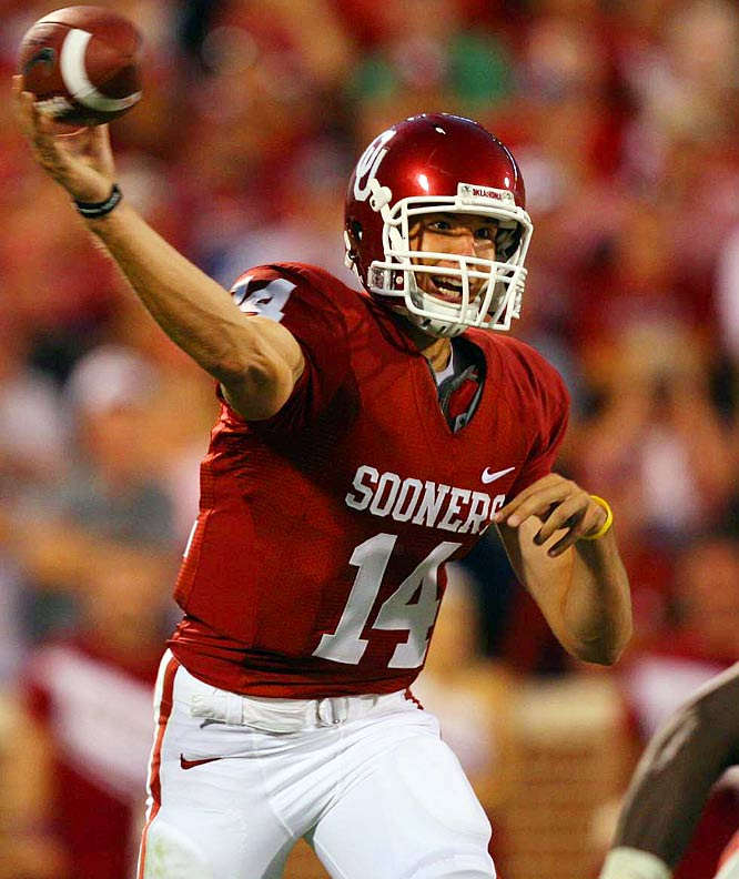 Boomer Sooner Sam Bradford established a career high (411 passing yards) as Oklahoma ascended to the top of the rankings with its win over then-No. 24 TCU.