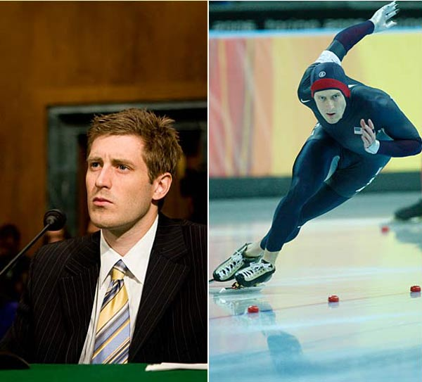 The 2006 gold medalist speedskater, was denied a visa to China days before the Olympics. Cheek is the president and co-founder of a collection of Olympic athletes known as Team Darfur.  He planned to urge China -- which has been criticzed for trading, including exchanging weapons for oil, with the ruling regime in Sudan -- to push for peace in war-ravaged Darfur.