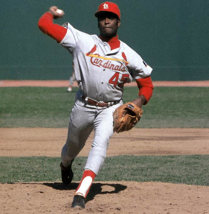 St. Louis Cardinals pitcher Bob Gibson throws his 13th shutout of the season to finish the season 22-9 with a 1.12 ERA.