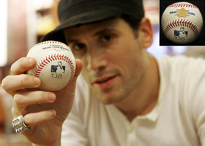 As a result of an internet poll, Marc Ecko donates Barry Bonds' record-breaking 756th home run to the Baseball Hall of Fame branded with an asterisk. The fashion designer, who made the announcement on The Today Show, revealed 47% voted for the ball to be marked, with another 34% voting to donate it unchanged, and 19% to send the historic homer into outer space.