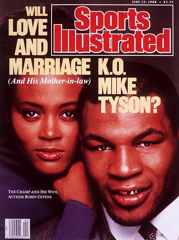 Robin Givens and Mike Tyson appear together in a televised interview with Barbara Walters where Givens says that Tyson abused her and is afraid of him.