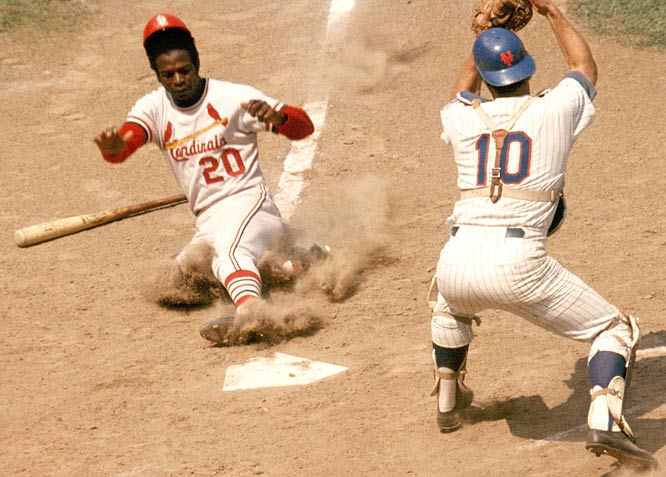 Lou Brock ties and then breaks Maury Willis' single-season stolen base record with his 104th and 105th swipes.