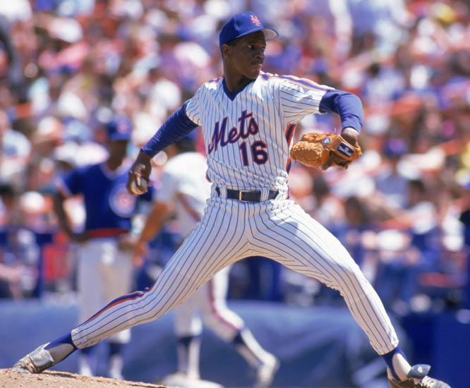 Dwight Gooden breaks the season strikeout record for a rookie by whiffing 16 Pirates. Gooden's total of 251 is six more than Herb Score's 1955 mark.