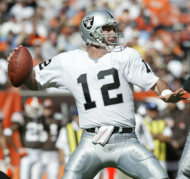 Oakland quarterback Rich Gannon begins his record-tying streak of six consecutive 300-yard passing games, throwing for 403 yards in the Raiders' 30-17 victory at Pittsburgh. Gannon finishes the year with a record 10 300-yard games.