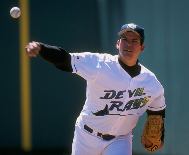 Rolando Arrojo (14-12) sets a record for wins by an expansion pitcher as the Devil Rays defeat the Angels, 8-1.
