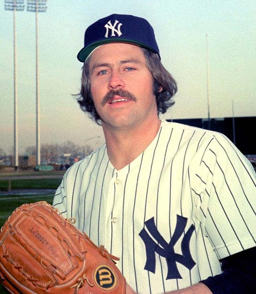 At Yankee Stadium, the Bronx Bombers hold Catfish Hunter Day to honor their future Hall of Fame pitcher who will be retiring at the end of the season at the age of 33.