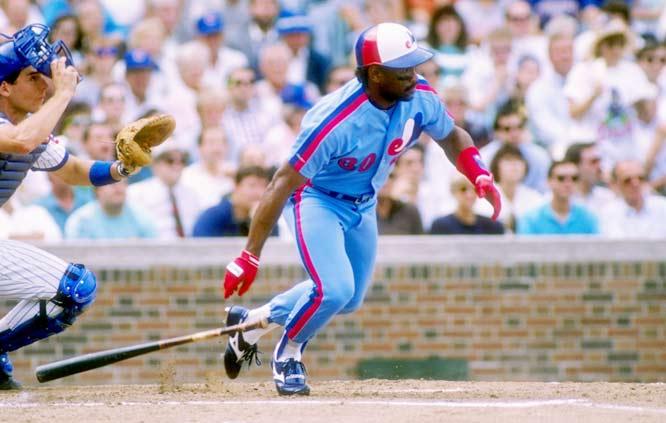Tim Raines becomes the first player with four consecutive 70-stolen-base seasons.