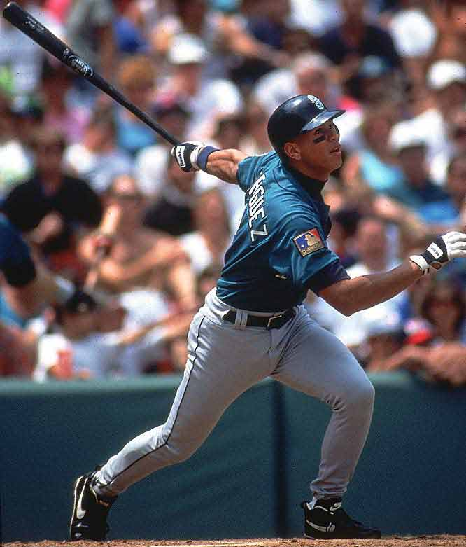 Mariner shortstop Alex Rodriguez becomes the first infielder in major league history to hit 40 home runs and steal 40 bases.