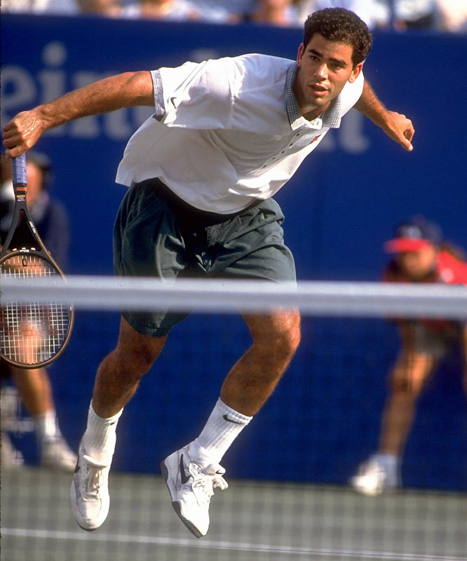 Pete Sampras defeats Michael Chang in straight sets (6-1, 6-4, 7-6) for his ninth career Grand Slam title.