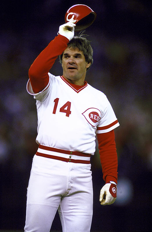 Pete Rose gets two hits, including a historic single to tie Ty Cobb's career record of 4,191 hits. The game will be suspended due to darkness, which will enable the Reds' player-manager to break the record at home.