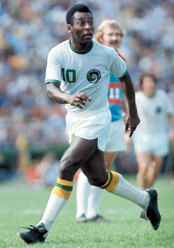 Pele with the Cosmos in 1977.
