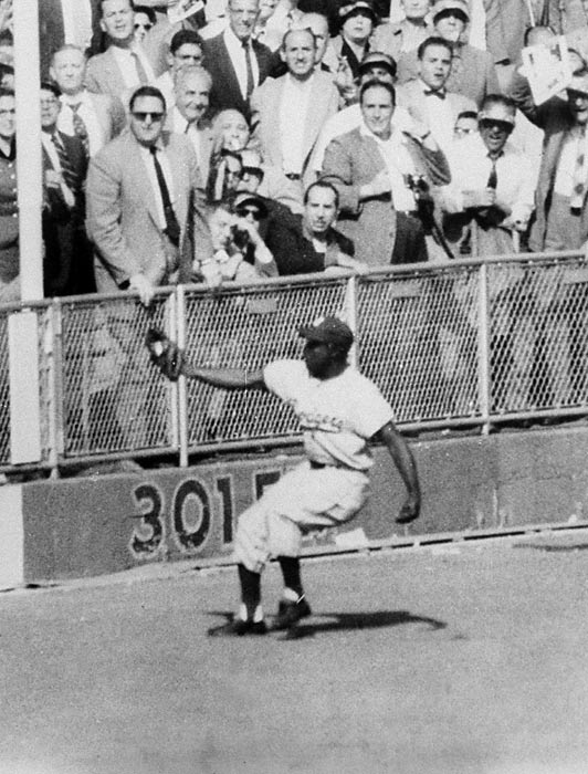 Dodgers Sandy Amoros' catch in 1955.