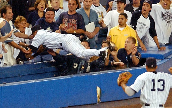 Derek Jeter's catch in 2004.