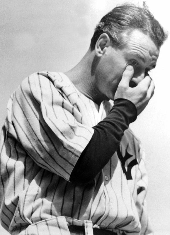 Lou Gehrig's luckiest-man speech in 1939.