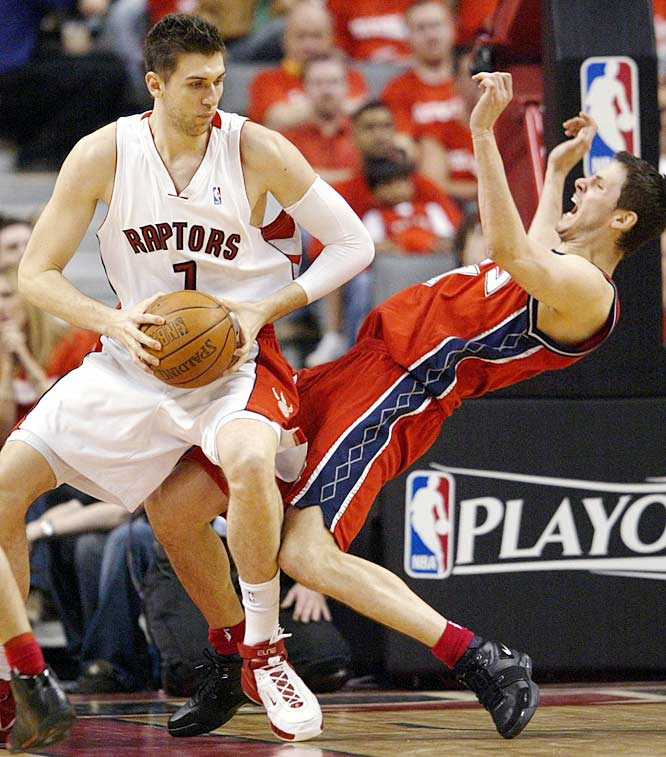 The No. 1 pick in the 2006 draft regressed in his second season, with declines in scoring (10.2 ppg), shooting (38.6 percent overall, 34.5 percent from three-point range) and rebounding (3.7) while playing 24 minutes a game as a part-time starter. The Raptors have talked about possibly playing the 7-footer at small forward in a big lineup alongside Chris Bosh and newcomer Jermaine O'Neal. Regardless of position or role, Bargnani needs to improve in Year 3 for the Raptors to realize their potential.