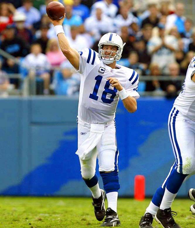 In his 11 years with the Colts, the older Manning has passed for 41,626 yards and 306 TDs and led the Colts to a Super Bowl title.