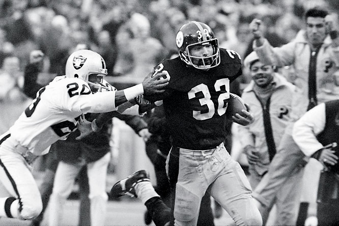 "From 1972 through '76 the Raiders and Steelers met in the playoffs each year, three times for the chance to go the Super Bowl. The rivalry included Franco Harris' ""Immaculate Reception"" and a trial for slander after Pittsburgh coach Chuck Noll accused Oakland of harboring a ""criminal element."""