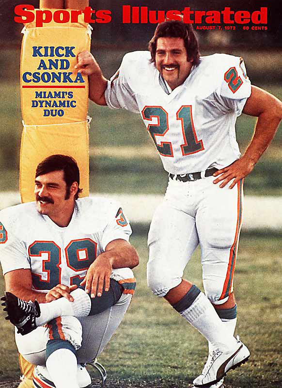 Still the only undefeated team in NFL history, the Dolphins went 17-0 even without starting quarterback Bob Griese, injured in the fifth game of the season, who returned to lead the Dolphins to a 14-7 win in Super Bowl VII. Six players from the team are now in the Pro Football Hall of Fame.