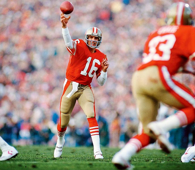 Joe Montana and the 49ers set a record for regular season wins with 15 and ended Dan Marino's last shot at a championship with a 38-16 win in the Super Bowl.