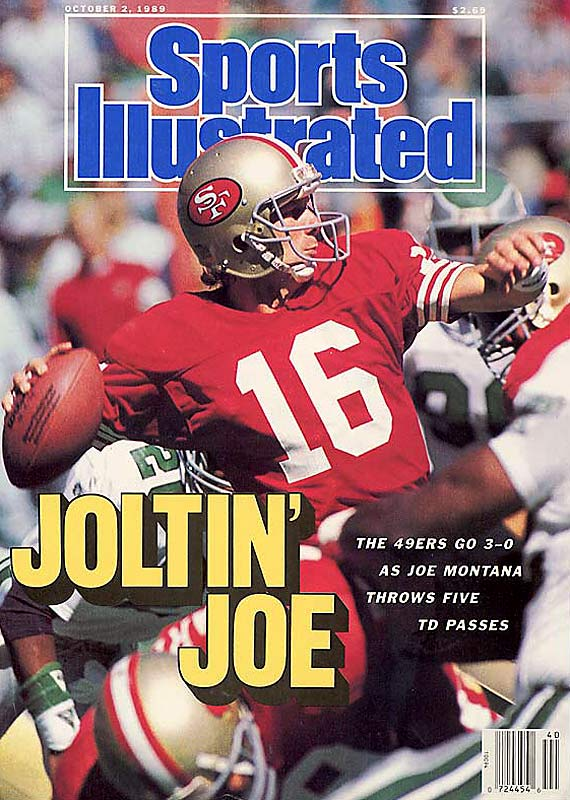 Joe Montana set the record for the highest quarterback rating (112.4) and earned his first MVP award as the 49ers third-ranked defense helped San Francisco to a 14-2 record.