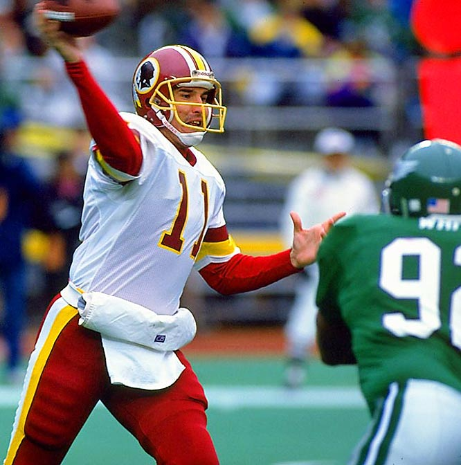 Without stars on offense, Mark Rypien led the Redskins to a 14-2 record and the team was never challenged in the playoffs.