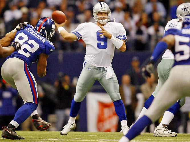 During halftime of an eventual 36-22 loss to the New York Giants on Oct. 23, 2006, Romo replaced Bledsoe under center. Nearly seven years later, he's yet to relinquish the starting role.