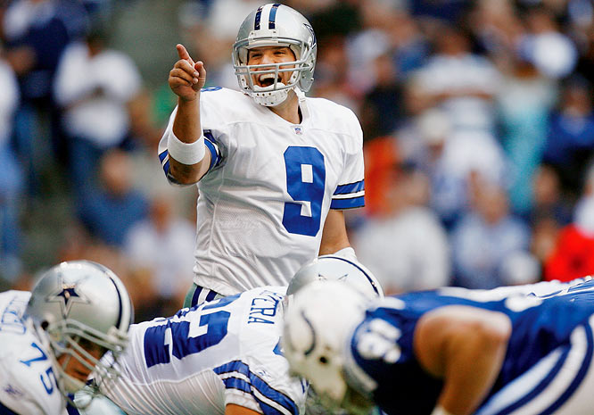Less than one month after inheriting the starting job, Romo spirited the Cowboys to a come-from-behind victory over the previously undefeated Indianapolis Colts, the NFL's last unbeaten team. Facing a 14-7 deficit, Romo led a pair of touchdown drives to put the Cowboys ahead 21-14 -- and a third to run out the clock for the win.