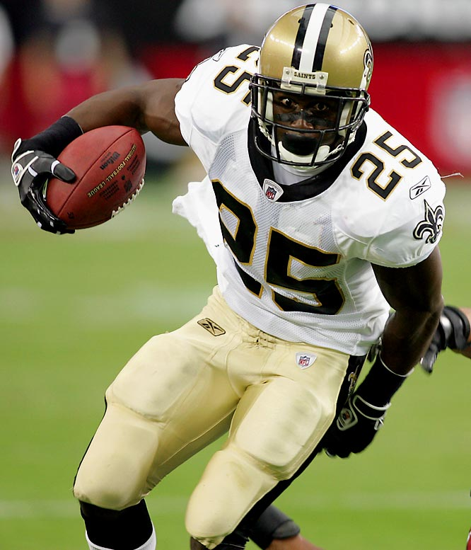 After an electrifying rookie season where he provided several highlight plays and led the Saints in receptions, Bush appeared to live up to the hype that preceded his arrival into the league. But his inability to deliver as an every down back in Deuce McAllister's absence last season has some calling Bush a bust. Amid the pressure of shedding that label, all eyes will be on Bush to see if he regains his rookie form.