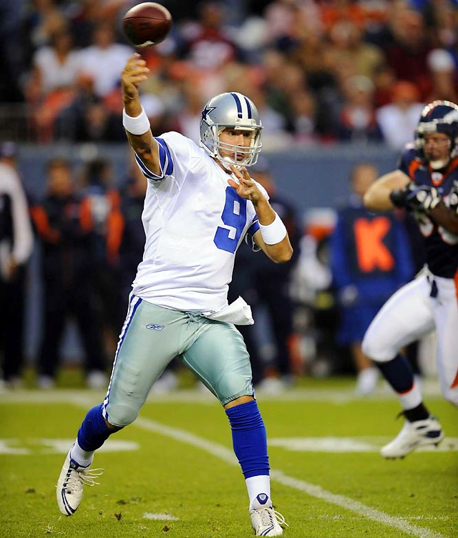 The two-time Pro Bowler has been outstanding during his first two seasons as the team's starter, but he has yet to lead the Cowboys to a playoff victory. Although the Cowboys have failed to win a post-season game in over a decade (defeated the Vikings 40-15 in a wild card game on December 28, 1996), the pressure is on Romo to get this talent-laden squad over the hump.