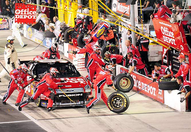 NASCAR features more side-by-side driving than any other racing series in the world, but Cup races are marathons and sometimes the action can get a bit stale. Luckily for fans, the race within the race is on pit row, where 13 seconds of furious work can be the difference between winning and losing.