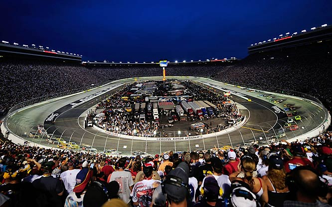 There may be no more breathtaking view in the sport than that of the Bristol bullring at the beginning of a race. With the floodlights on and 165,000 people in the stands -- all of them, seemingly, in possession of a camera -- the track is momentarily transformed into an earthbound star. And the racing is pure short-track in all its bruising glory, three-wide and furious and loud. For many fans, this is the essence of NASCAR.