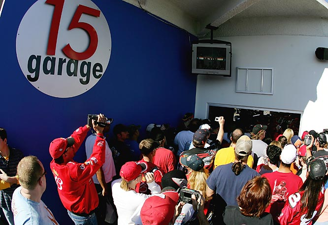On a race weekend, the Cup garage isn't just a place to work on the car. It's <i>the</i> place to see and be seen, a miniature street fair complete with food. Here, celebrities and drivers mingle with mechanics and engineers, with fans and journalists and with mechanics and technicians.