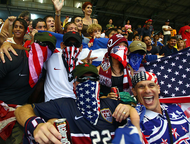 A handful of U.S. fans made the game, defying U.S. sanctions against Cuba.