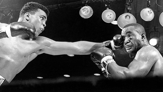 To boxing analysts and writers, the match was too lopsided to take seriously. The champ Liston was feared by nearly every boxer and would surely dispose of the 22-year-old challenger. But Liston failed to answer the bell for the seventh round because of an injured shoulder, giving Clay the win via TKO.