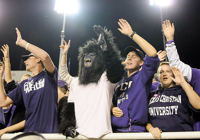As TCU knows, when facepaint fails, go with the gorilla costume.