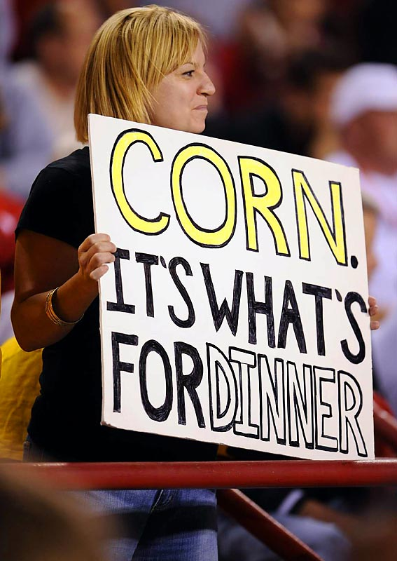 This Mizzou fan knew her Tigers were going to chop up the Huskers and eat them for dinner.