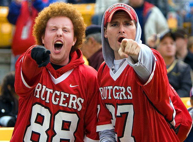 While the Pitt fans moped, Rutgers fans cheered on quarterback Mike Teel, who threw for a season-high six touchdowns.