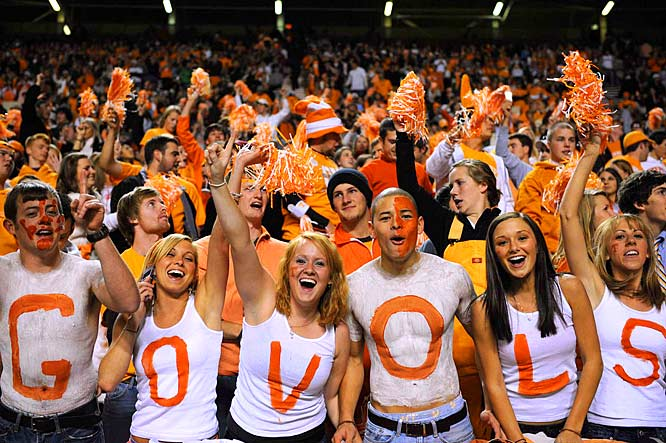 This season's been a struggle, but Tennessee fans still go all-out for their Vols.