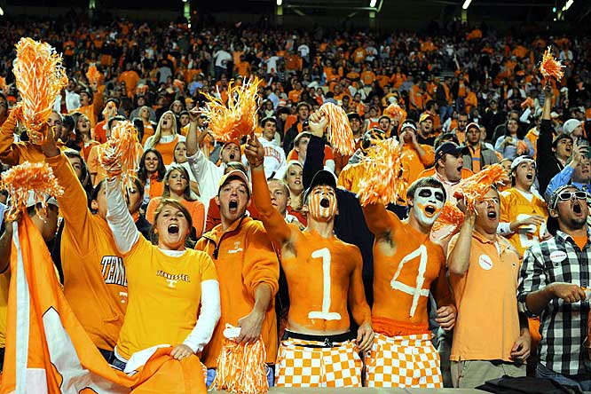 Even in a loss to Alabama, Tennessee fans found something about which to cheer.