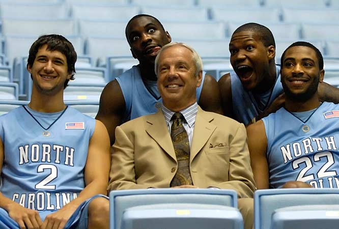 UNC's Late Night with Roy Williams takes place on Saturday, but the squad took some time at Media Day to goof around for the camera.