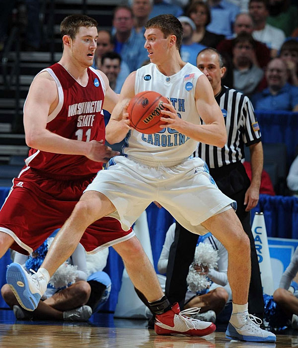 Reigning Wooden and Naismith Award winner Hansbrough, pictured, (22.6 ppg, 10.2 rpg) could carry a frontcourt on his own, but he has a solid wingman in Thompson (8.4 ppg, 4.8 rpg) and now, a couple of elite freshmen in Zeller and Davis.
