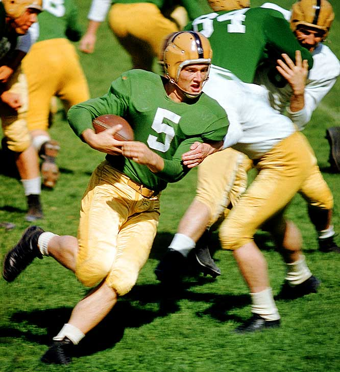 Notre Dame's Paul Hornung may have not won any big bowl games, but he was the first Heisman winner to come from a losing team.