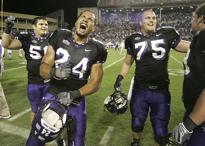 TCU jumped out to a 23-0 halftime lead in snapping BYU's nation-long 16-game winning streak and putting the Cougars' BCS dreams in serious jeopardy.