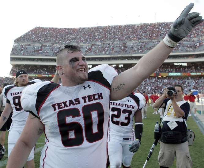 "At 6-feet-7 and 354 pounds, the junior offensive lineman at Texas Tech is nicknamed ""Mankind."" Seems fitting, no?"